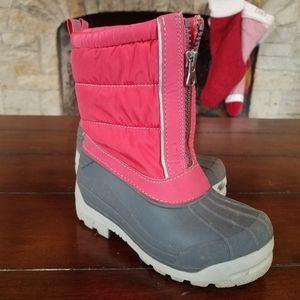 Lands End girls winter snow boots size